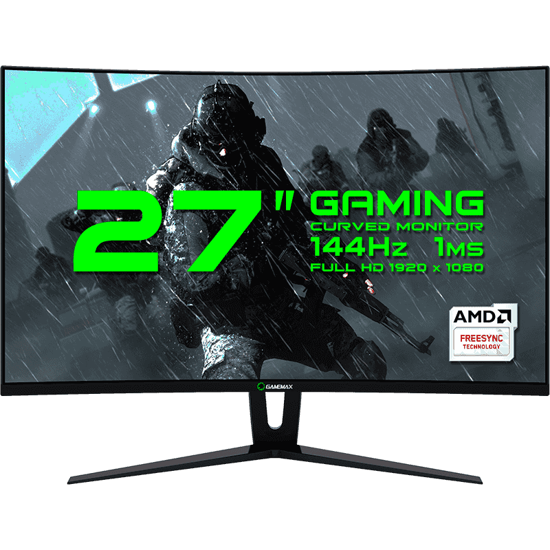 "MONITOR 27"" LED GAMEMAX GMX27C144 BLACK"