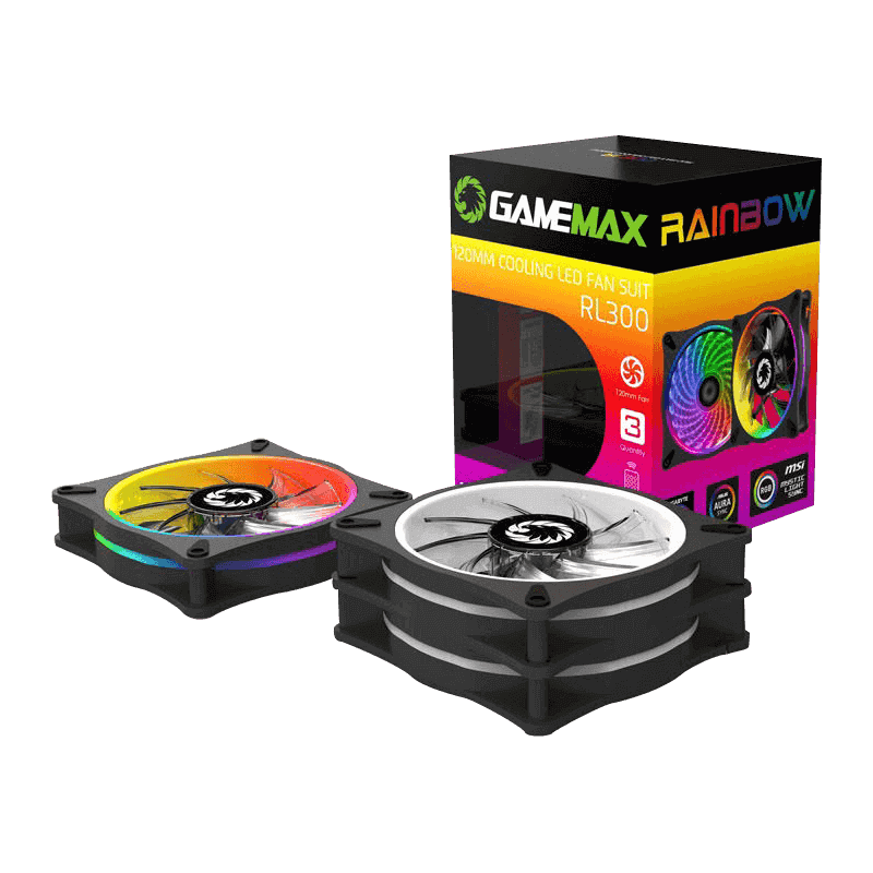 COOLING RAINBOW FAN 3 IN 1 COMBO + REMOTE GAMEMAX RL300