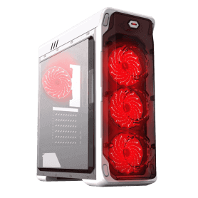CASE GAMEMAX STARLIGHT WHITE RED