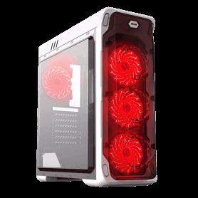 CASE GAMEMAX STARLIGHT WHITE RED