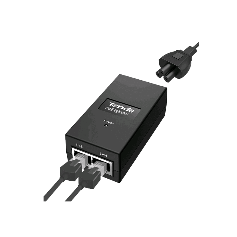 ADAPTER TENDA POE INJECTOR POE15F 10/100MBPS