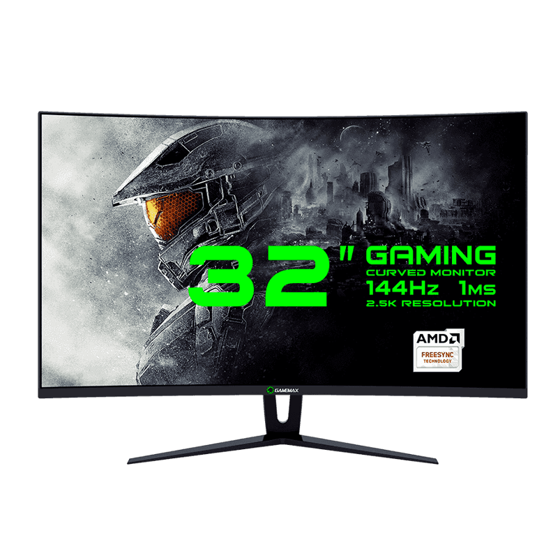 "MONITOR LCD 32"" GAMEMAX GMX32CEWQ BLACK"