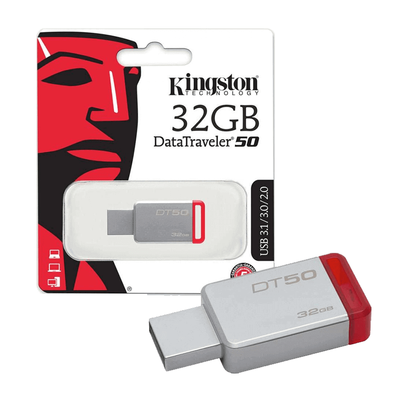 FLASH MEMORY 32GB KINGSTON 3.1 DATA TRAVELER DT50