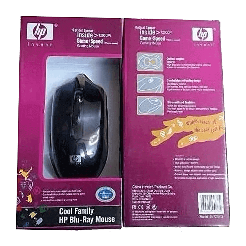 MOUSE HP GAMING 1200DPI BLU RAY