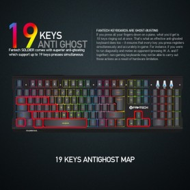 KEYBOARD USB FANTECH K612 SOLDIER GAMING