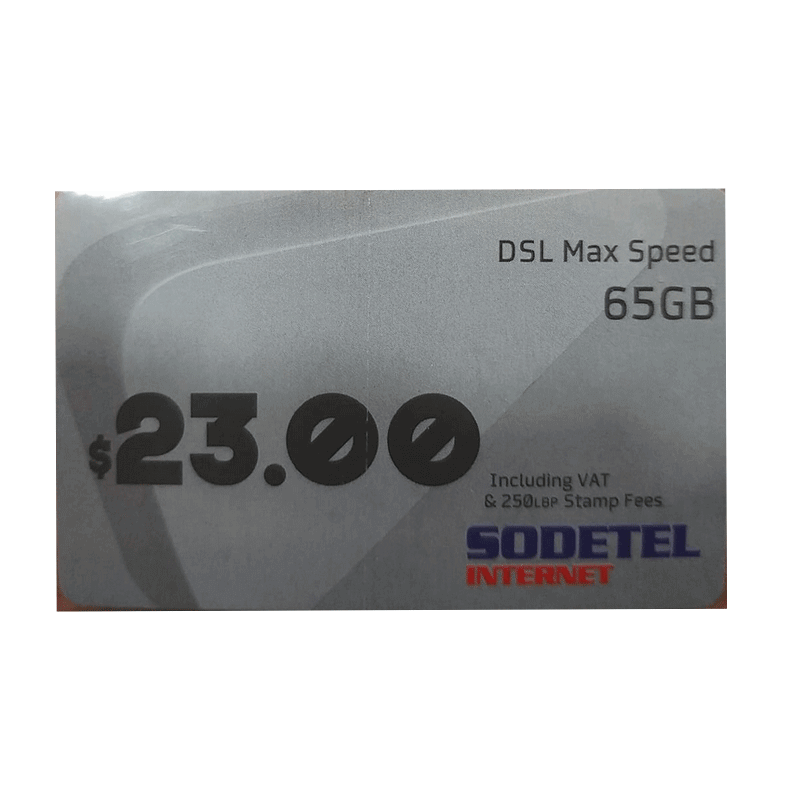 INTERNET SODETEL DSL MAX SPEED 65GB