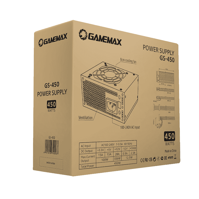PSU GAMEMAX GS-450