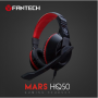 Headset Gaming Fantech Hq50 Mars 2X 3.5Mm Aux Convertor