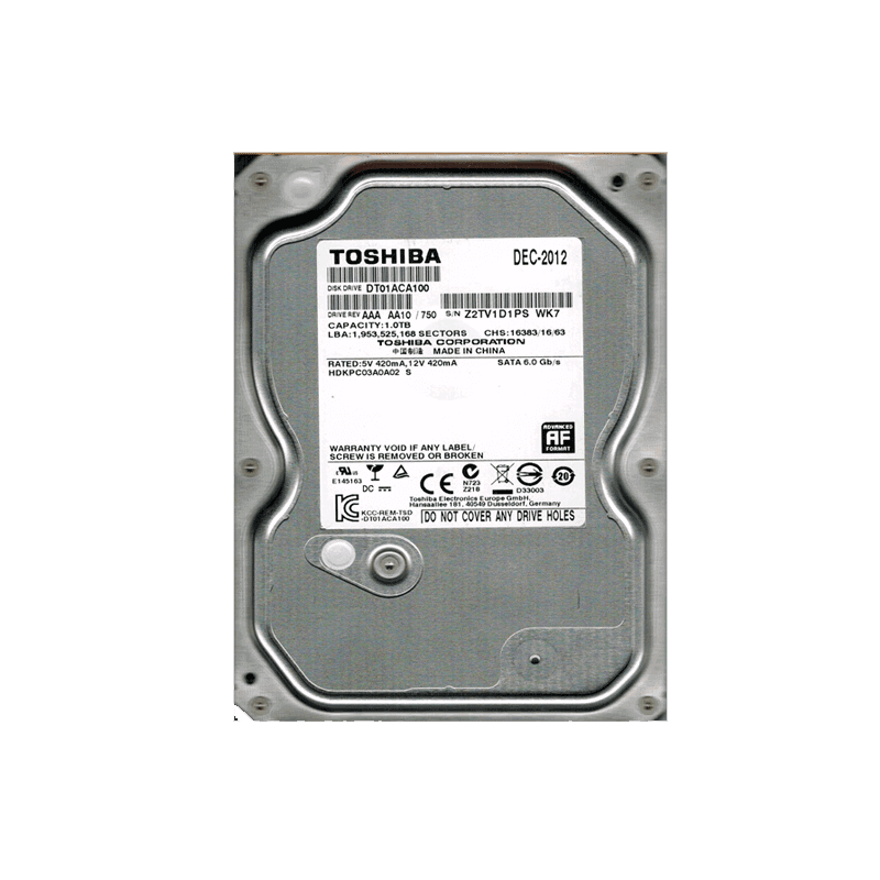 "HDD 3.5"" 1TB SATA TOSHIBA Toshiba"