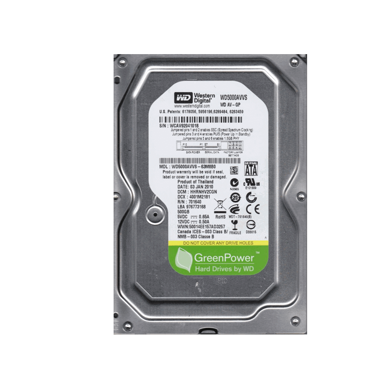 "HDD 3.5"" 500GB SATA WD NEW PULL"